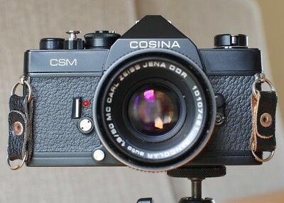 Vintage 1970s Cosina CSM 35mm SLR with Carl Zeiss Jena 50mm f1.8 Lens