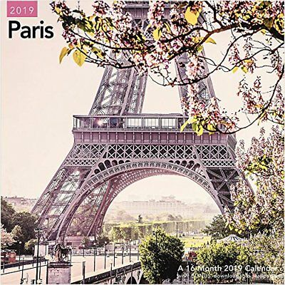 Paris - 2019 Wall Calendar - Brand New - Scenic Travel France Lme313