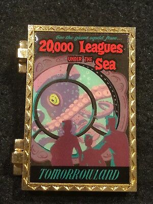 Disney Pin 20,000 Leagues Under The Sea Attraction Poster Chip Dale Giant Squid