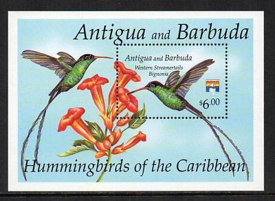 ANTIGUA & BARBUDA - 1992, $6 Western Streamertails, MNH Mini-Sheet