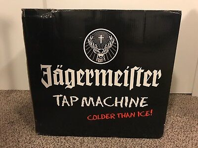 Jagermeister 3 Bottle Tap Machine Model JEMUS - NEW IN BOX! Jager Man Cave