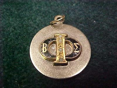 Beta Sigma Phi Vintage Sorority Charm Pendant 1/20Th 12K Gold Filled Seed Pearl