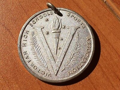 Vintage 1985 Victorian High Schools Sports Association Swimming medallion