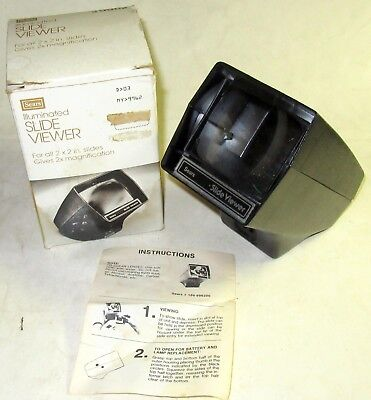 Vintage Sears Illuminated SLIDE VIEWER For All 2x2 Slides Gives 2X Magnification