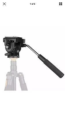 Lightweight Heavy Duty Fluid Drag Pan Camera 360 Head w/Quick Release Plate 1510