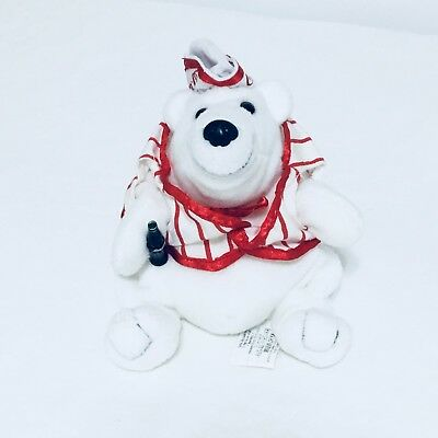 Coca Cola Polar Bear Collectible Bean Bag Plush 1998 Soda Jerk Coke