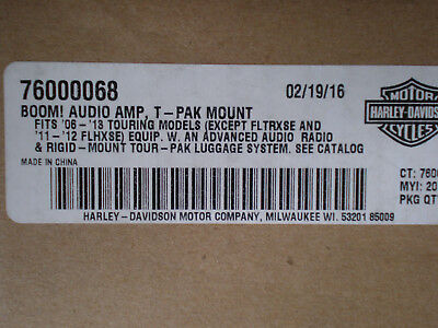 06-13 OEM Harley CVO Touring BOOM! AUDIO AMP Amplifier Tour pack Mounted Base