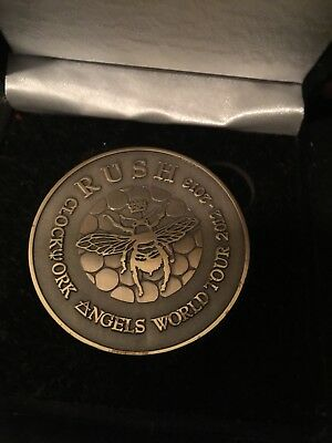 Rush Vip Package Coin Clockwork Angels Limited Edition Geddy Lee Neil Peart