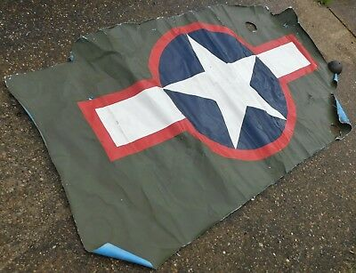 World War 2 Taylorcraft L-2 Warbird Aircraft Skin with US Army Air Force Roundel