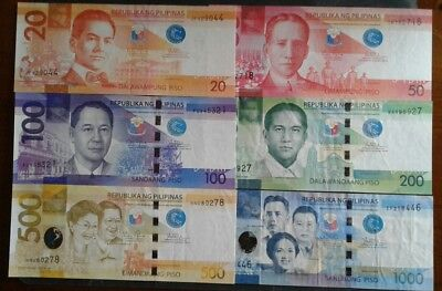 PHILIPPINES  Banknote Set of 6