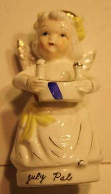 July Birthday Calendar Angel Girl of the Month Figurine-Made in Japan Porcelain