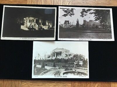 1924 British Empire exhibition . Lot Of 3 Real Photo Postcards
