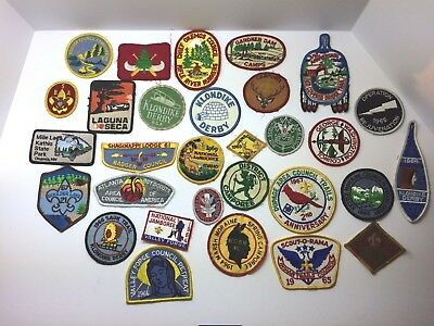 Mixed LOT of 30 Vintage Boy Scouts Patches 1960's Nice