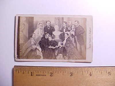 1850s CDV PHOTO QUEEN VICTORIA OF ENGLAND AND FAMILY AFTER OIL PAINTING VG+