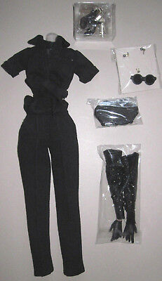 Integrity toys Fashion Royalty Fortune and Fame Vanessa Black Outfit w SHOES