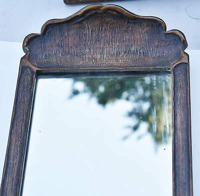 Victorian Art Nouveau Wood Old Gold Gilt Wall Mirror 1890-1910