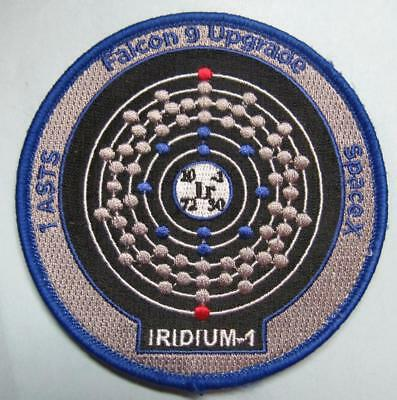 1 Asts Falcon 9 Upgrade Iridium-1 Space X Mission Patch Free Shipping