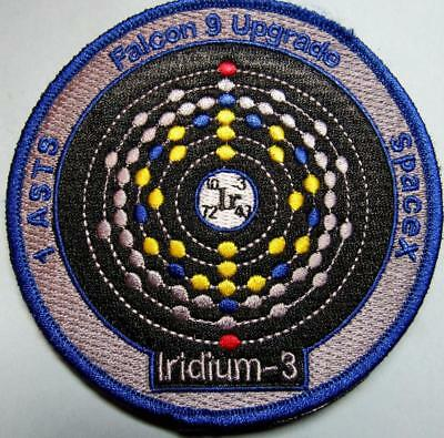 1 Asts (3) Falcon 9 Upgrade Iridium-3 Space X Mission Patch Free Shipping