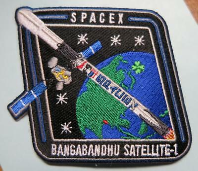 Bangabandhu-1 Spacex Falcon 9 Mission Space Patch Original Free Shipping Us