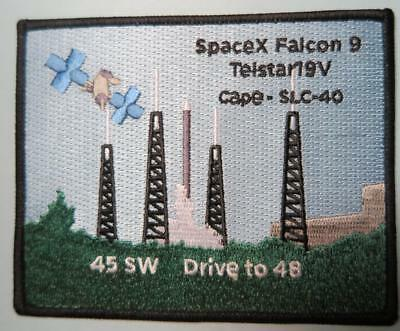 Telestar 19V Space X Falcon 9 45 Space Wing Patch Drive To 48