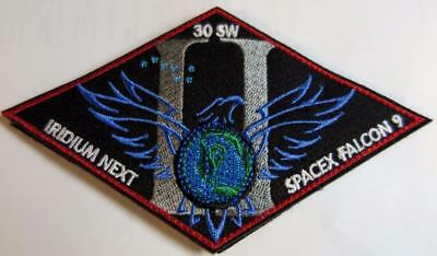 Falcon 9 30Sw Iridium Next Ii Space X Mission Patch Velcro Back