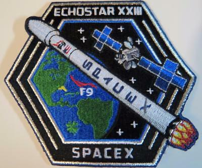 Original Echostar-23 Spacex Falcon9 Free Shipping Space Mission Patch