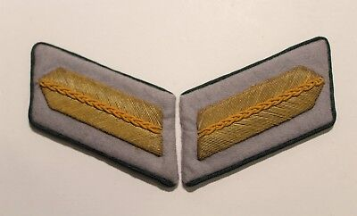 Pair German WWII Army High Grade (Senior) Official Collar Tabs w cello wrapper