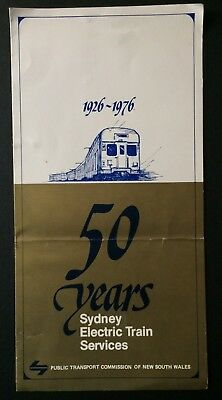 Foldout - 50 Years Sydney Electric Train Services 1926 - 1976