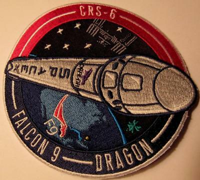 Original Crs-6 Spacex Falcon9 Dragon Satellite Vehicle Space Mission Patch
