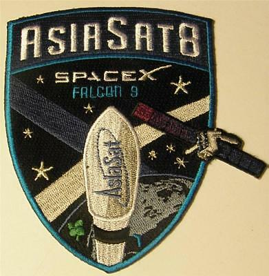 Original Spacex Falcon 9 Asiasat 8 Satellite Vehicle Space Mission Patch