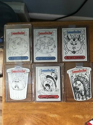 Six Garbage Pail Kids Sketch Card 2013/2014 3 Gold Reflectors For Free As bonus