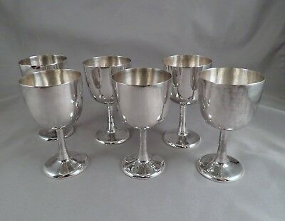 (6) SIGNED Antique Chinese Export Sterling Silver Cordial Wine Cups Goblets 193g
