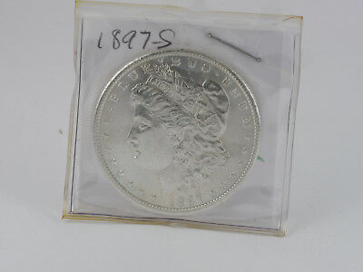1897 S Morgan Silver Dollar BU++ Full Luster