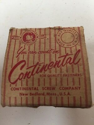 """Holtite Continental Screw Co 1/2"""" #8 Round Head Zinc Tapping Screws Vintage 36ct"""