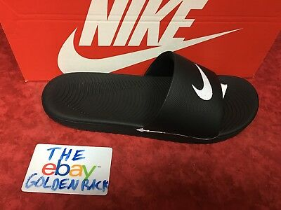 Men's Nike Kawa Slide Sandal Black/White 832646 010 SZ 9-13