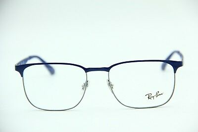 693b7a66d5 ... cheap new ray ban rb 6363 2889 shiny blue authentic eyeglasses rb6363  rx 54 18 eb131 ...