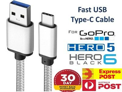 New GoPro Hero 5 6 Camera USB TypeC Data Sync Power Charging Cable Galaxy S9 S10