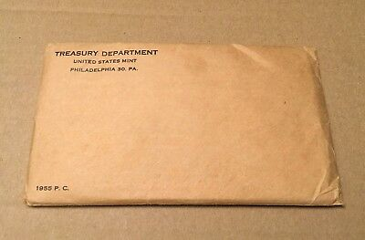 1955 US Mint Silver Proof Set with Original Sealed Envelope (UNOPENED).