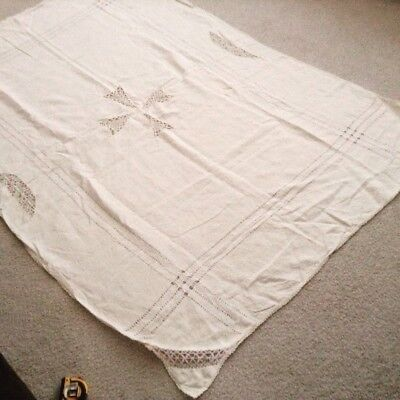 Tablecloth natural calico large rectangle