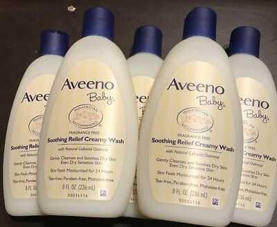 6- New Aveeno Baby Soothing Relief Creamy Wash **fragrance Free**