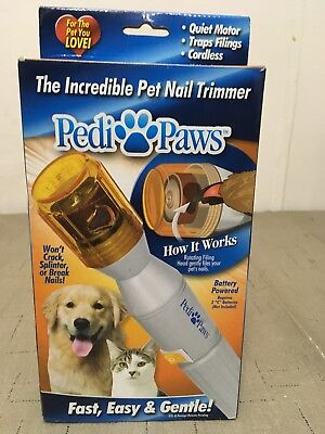 Pedi Paws Nail Trimmer Grinder Grooming Tool Care Clipper For Pet Dog  Or Cat