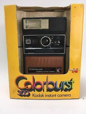Colorburst Kodak 300 Instant Camera Boxed With Manual RARE Photography Collector