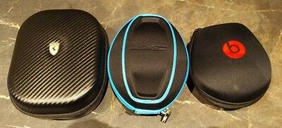 Beats By Dre / Sms Audio / Ferrari - Hard Cover Headphones Travel Case Lot