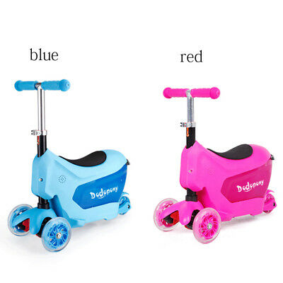 3 in 1 Kids Toddler Ride On Baby Trike Tricycle 3 Wheel Push Scooter_Gift