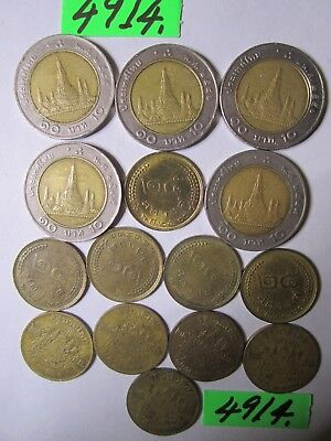 15 x assorted culled coins  from Thailand     35   gms      Mar4914