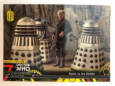 2016 Doctor Who Extraterrestrial Encounters #59 Death to the Daleks YELLOW