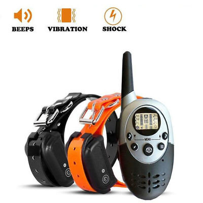 Waterproof Rechargeable LCD Pet Dog Remote Control Vibrate Trainer Collar