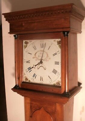 """Antique Pine  Painted Dial """" Dursley""""   Longcase / Grandfather Clock"""