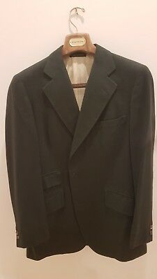 Turnbull & Asser 100% Cashmere Vtg Forest Green Sportscoat 42/52R