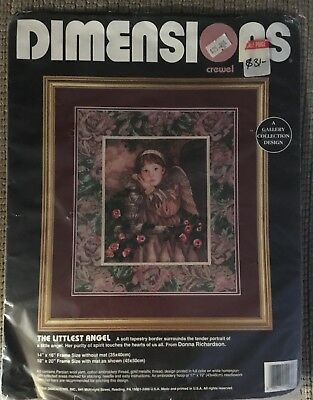 "Dimensions Tapestry Needlepoint Canvas ""The Littlest Angel"" #1443 Complete Kit"